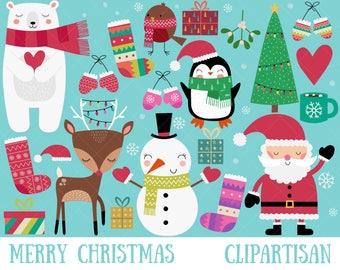 Christmas Clipart | Merry Christmas Clip Art | Santa Printable