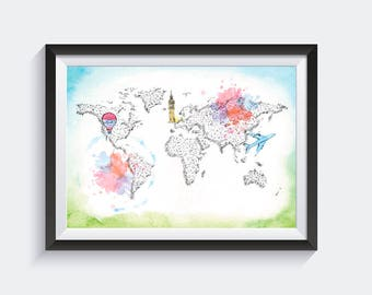 Travel in Colour Artwork x 1 Image - Instant Digital Download