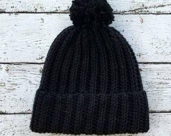 Crochet Beanie PATTERN - Crochet Hat Pattern - Crochet Toque Pattern - Easy Crochet Pattern - Beginner Crochet Pattern