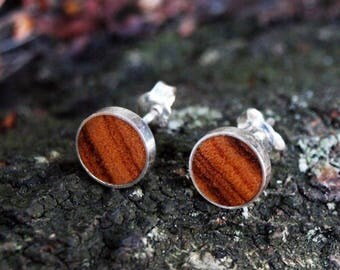 Wooden/silver earrings from Wild olive