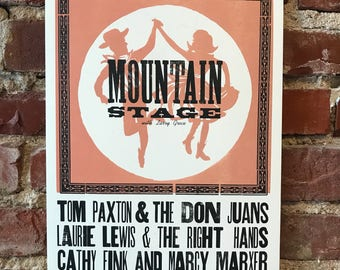 2017 Mountain Stage Letterpress Posters - August to December