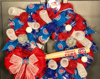MLB NHL NFL Winter Cristmas Wreath Custom Made just for you!