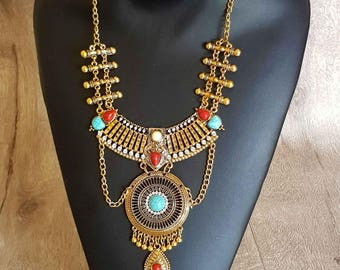 """Ethnic necklace with the inspirations """"Inca"""""""