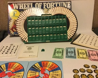 Wheel of Fortune, 2nd Edition, 1986 Board Game, Television Game Show