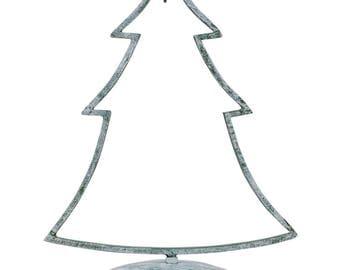 "12"" Green Tone Iron Metal Christmas Tree Ornament Stand"