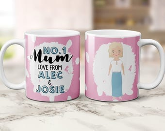 customized mug, coffee cup, personalised mug, couple illustration, perfect gift for her, unique coffee mug, personalised gifts, mum gift