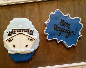 Bon Voyage!  Cruise Ship Cookies!