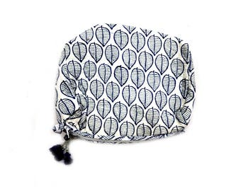 Indian Cotton Banjara Floral Design Clutch Bag in White Color