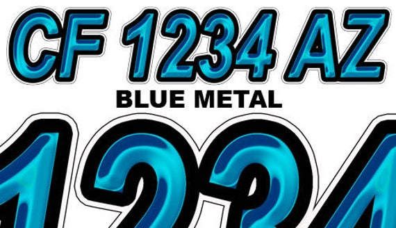 BlueMetal Boat Registration Numbers And Letters Decals Vinyl Names - Custom boat numbers