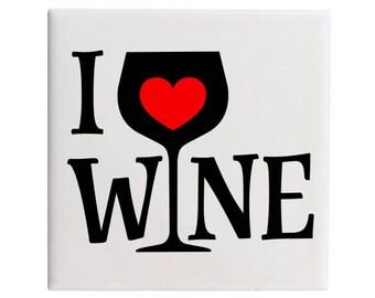 Wine Gift, Wine Gifts, Wine Lover, Wine Lover Gift, Coasters, Drink Coasters, Housewarming Gift, Wine, Wine Glass, Wedding, Wedding Gift