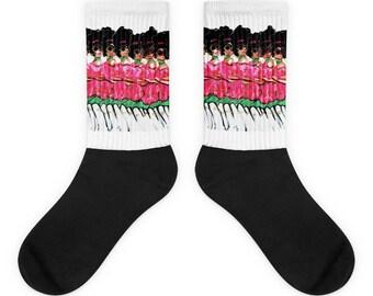 Those Pink and Green Ladies Socks