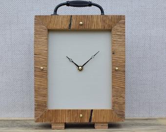 Wooden Clock, Rustic Clock, Desk Clock, Oak Clock, Modern Clock, Clock, Wood Clock, Free Standing Clock, Table Clock, Office Clock