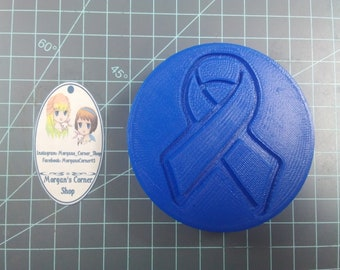Awareness Ribbon Disc Plastic Mold or Silicone mold, bath bomb mold, soap mold, ribbon mold, Awareness mold, disc mold, support ribbon mold
