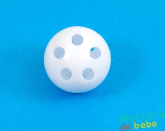 Foley ball for baby toys: rattle - 2.8 cm diameter - white