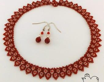Traditional Ukrainian Style Beaded Necklace + FREE Earrings