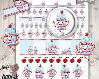 50%OFF - Birthday Stickers, Birthday Planner Stickers, Printable Planner Stickers, Planner Stickers, Kawaii Stickers, Planner Accessories