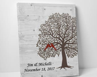 Personalized family tree wall art wood, family tree typography, meaningful gifts for him, best selling items wood, custom canvas wall décor