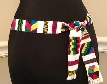 Vintage Guatemalan Heritage Symbols Belt