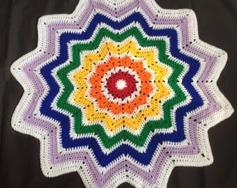 Rainbow star blanket // rainbow blanket // gender neutral gift // baby shower // baby gift // READY TO POST