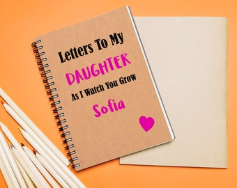Letters to my son notebook, letters to my daughter notebook, personalised notebook, personalised letters notebook, kraft notebook, notebook