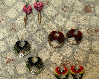 """Collection """"Summertime"""" hand made macrame earrings"""
