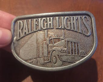 Vintage Raleigh Lights Belt Buckle . Raleigh lights buckle . Vintage buckle . Antique buckle