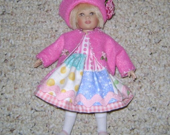 """Handmade Bright Spring DOLL OUTFIT Fits Kish RILEY, Vogue Ginny & other 8"""" Dolls!"""