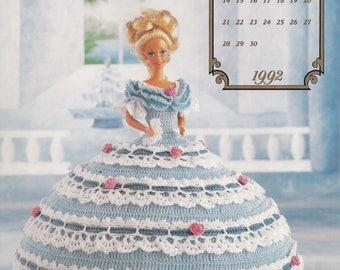 Miss June 1992, Annie's Attic Cotillion Collection Crochet Doll Clothes Pattern Booklet 7506