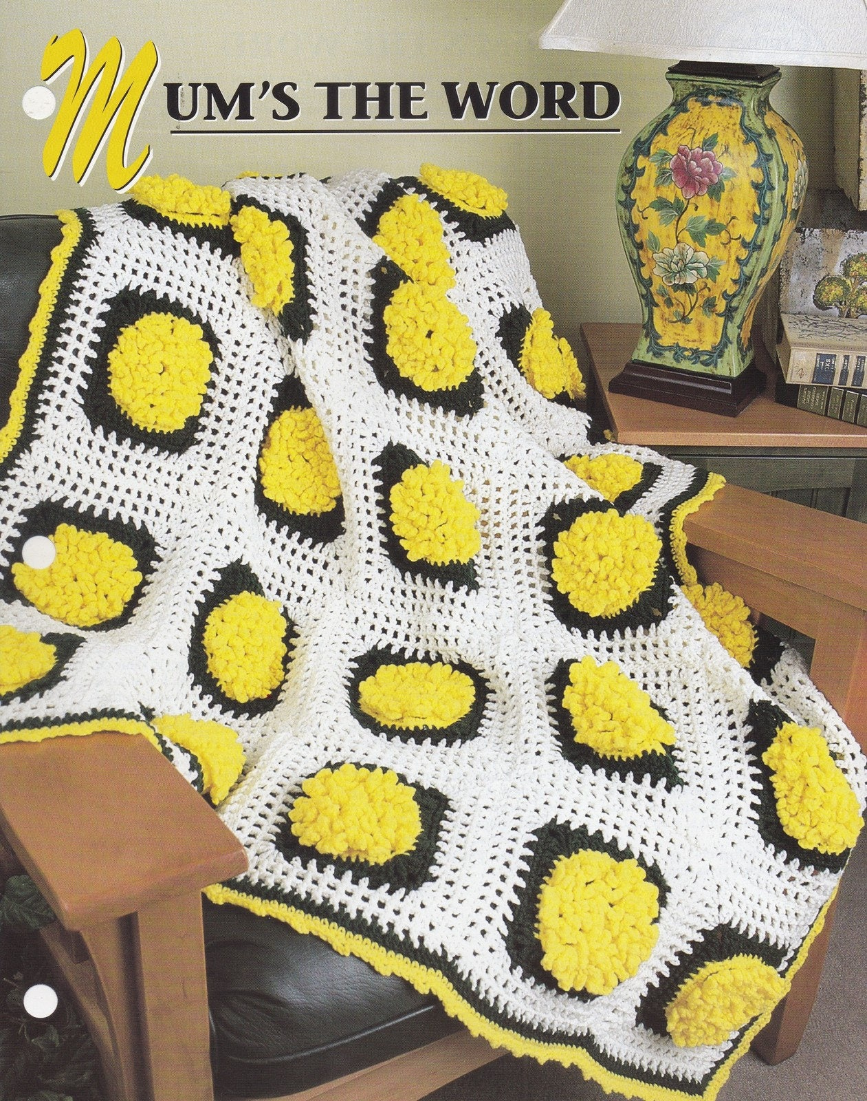 Mums The Word Annies Attic Crochet Quilt Afghan Pattern Club