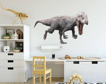 T Rex Wall Decal Etsy - 3d dinosaur wall decalsd dinosaur wall stickers for kids bedrooms jurassic world wall