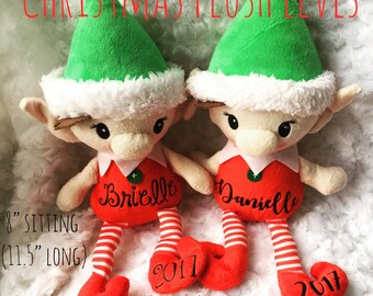 Personalized Christmas Plush Elf