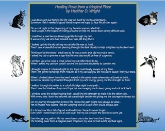 Healing Paws from a Magical Place - Printable Poetry Instant Download