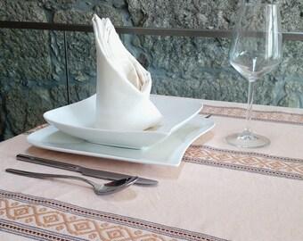 Tablecloth Salmon Jacquard – Classic – Rectangle – Size: 125cm x 300cm