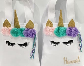 Unicorn Party Bag, Tote, Unicorn, Birthday gift, Unicorn birthday, Unicorn party, Gift, Unicorn