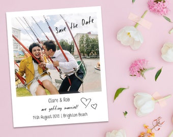 Polaroid / Instant Photo Save the Date Magnet - Personalise with your own photos for great invitations