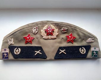 Russian army, Russian hat,Russian military,Soviet,russian uniform,Vintage Soviet Army Cap, Cap Military,Hat Russia Army,USSR hat,Pilotka.