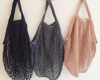 Market Bag . Reusable . Eco-friendly . Net Bag . Grocery Tote