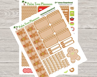 Christmas Gingerbread Planner Stickers Weekly Kit