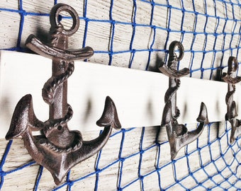 Anchor  Coat Rack  ,Beach Towel,  Hat, Purse You Name it Holder