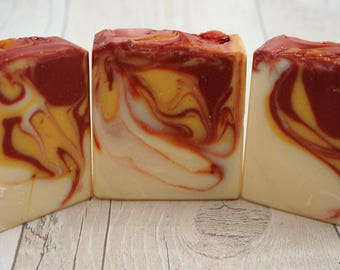 Cranberry and Pomegranate Scented Traditional Cold Process Soap