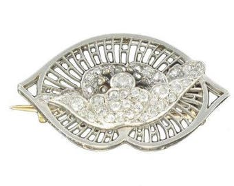 Brooch Boucheron diamond Platinum Vintage old