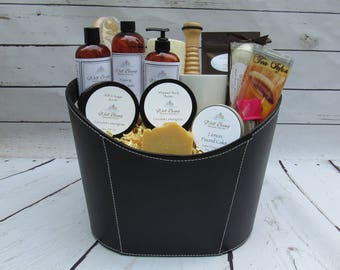 Coconut Lemongrass Deluxe Spa Basket.Spa Gift Basket.Mom To Be Gift.Gift For Mom.Gift For Her.Pampering Gift.Mother's Day Gift.Relaxation