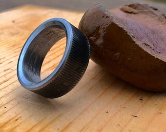 Hand crafted ring from bolt