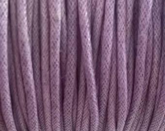 1 m of cotton cord 2 mm purple