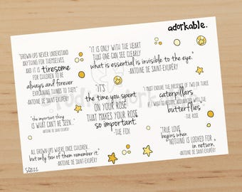 The Little Bit Quotes Glossy Stickers / SQ222
