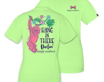 """Youth- Simply Southern """"Hang"""" T-shirt W/ Monogram Option"""