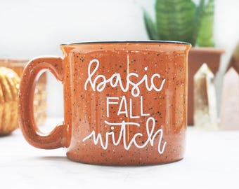 Basic Fall Witch / Halloween / Autumn / Fall / Orange Campfire Mug
