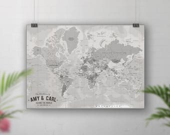 Pin board map push pin world map places weve been vintage world map travel map push pin places weve been map gumiabroncs Image collections