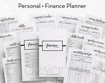 Financial Planner, Personal Planner, Budget Planner, Printable Planner, Income Tracker, Personal Inserts, Planner Inserts, Expense Tracker