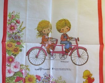 50% OFF - Set of 4 Vintage 1970s Hankies - Little Lovables by Nakanishi